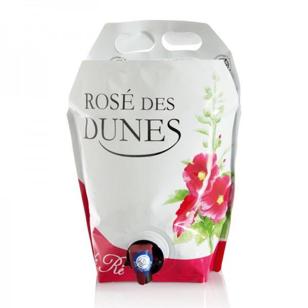 Rosé des Dunes (Vin rosé - Vendu par carton de 4 Bag in Box de 3 litres, soit 12 litres)